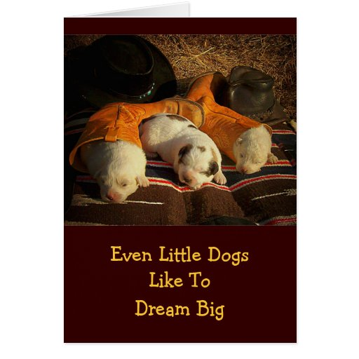 Tired Cowboy Puppies Cards