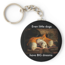Tired Cowboy Puppies Keychain