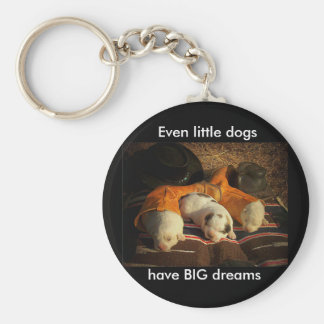 Tired Cowboy Puppies Keychain