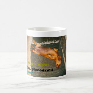 Tired Dachshund Coffee Mug
