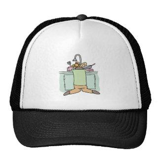 Tired Dishwasher Man Trucker Hat
