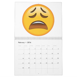 Tired Face - Emoji Calendar
