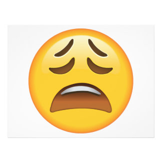 Tired Face - Emoji Flyer