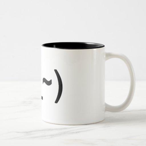 Tired face mug (two tone)