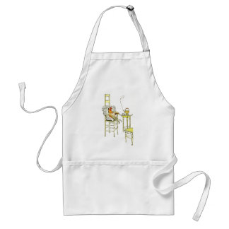 Tired Hen Having a Cuppa Adult Apron