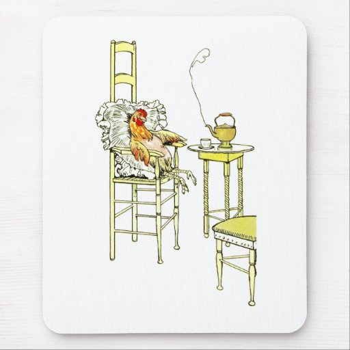 Tired Hen Having a Cuppa Mouse Pad