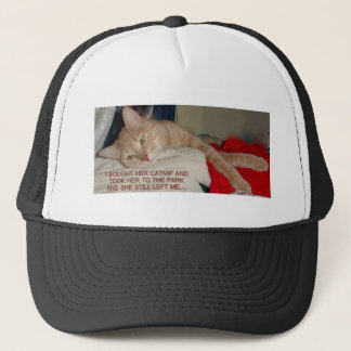 TIRED KITTY TRUCKER HAT