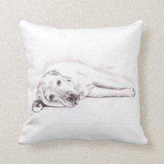 Tired Labrador Pillow