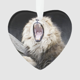 tired lion ornament