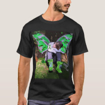 Tired Lyme Disease Warrior with Angel Wings Cell T-Shirt