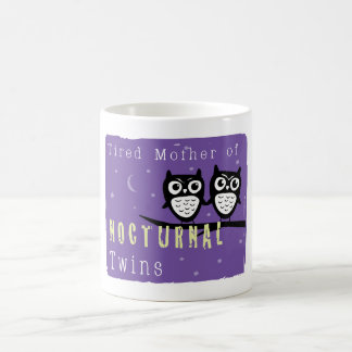 Tired Mother of Nocturnal Twins Classic White Coffee Mug