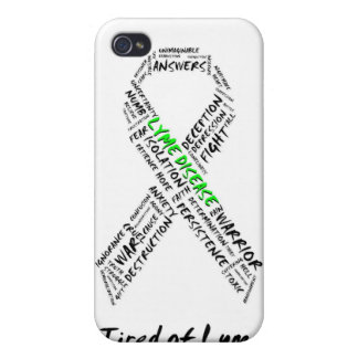 Tired of Lyme Support Ribbon iPhone Case