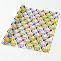 Tired owls wrapping paper