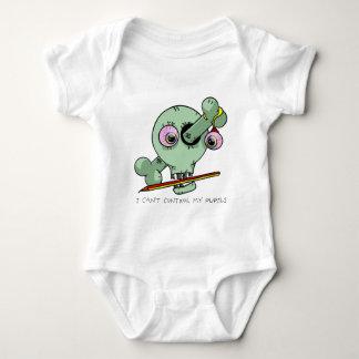Tired Teacher Funny Skull Customizable Baby Bodysuit