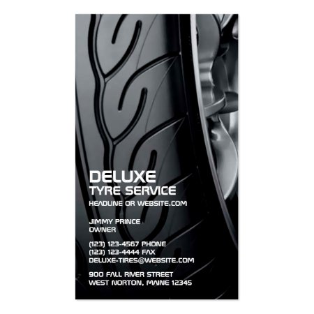 Black Tire Closeup Business Cards