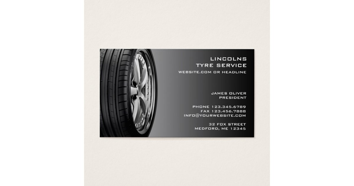 Tyre Business Cards & Templates | Zazzle