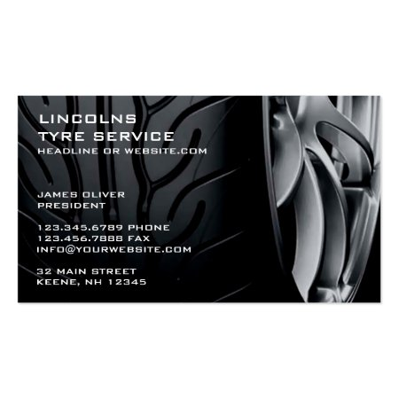 Close Up Tires Sales and Repair Business Cards