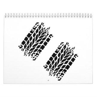 Tires skidmarks calendar