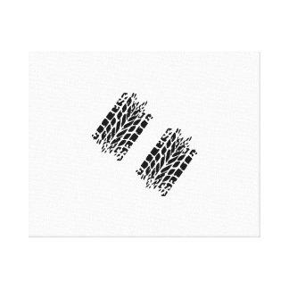 Tires skidmarks stretched canvas prints