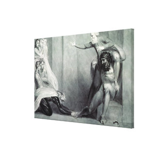 Tiriel, borne back to the Palace Canvas Print