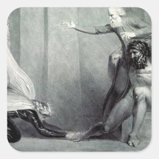 Tiriel, llevado de nuevo al palacio pegatina cuadrada