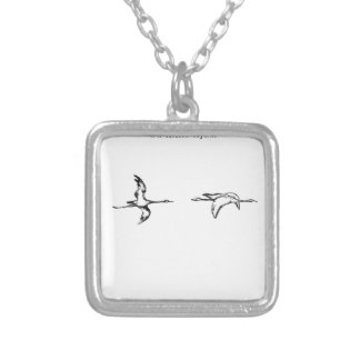Tirilil Tove Cover by Theodor Severin Kittelsen Square Pendant Necklace