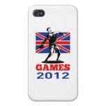 Tiro 2012 de disco de los juegos del verano iPhone 4 protectores