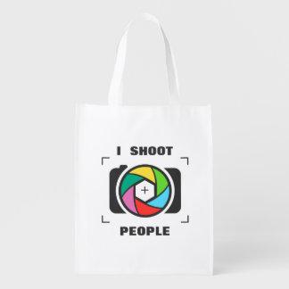 Tiro a la gente - diversión colorida del obturador bolsas reutilizables