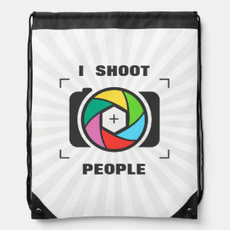 Tiro a la gente - diversión colorida del obturador mochilas