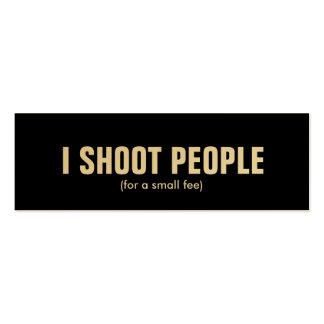 Tiro a la gente - fotógrafo profesional (el oro) tarjetas de visita mini