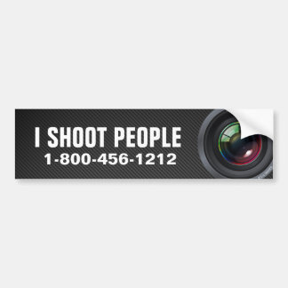 Tiro a la gente - fotógrafo profesional pegatina para auto