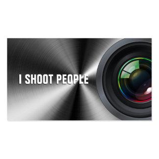 Tiro a la gente - fotógrafo profesional tarjeta de visita