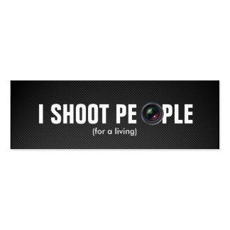 Tiro a la gente - fotógrafo profesional plantillas de tarjeta de negocio