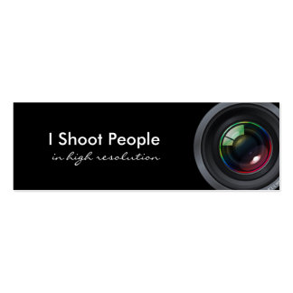 Tiro a la gente - fotógrafo profesional tarjetas de visita mini