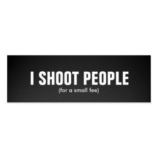 Tiro a la gente - fotógrafo profesional tarjetas personales