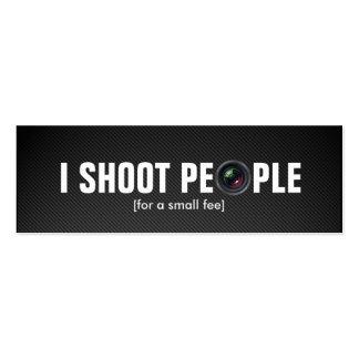 Tiro a la gente - fotógrafo profesional plantilla de tarjeta personal