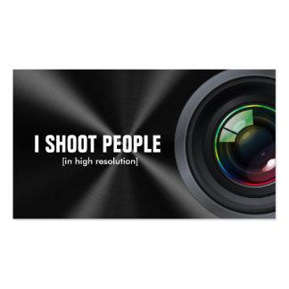 Tiro a la gente - fotógrafo profesional tarjeta de negocio