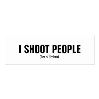 Tiro a la gente - fotógrafo profesional tarjetas de negocios
