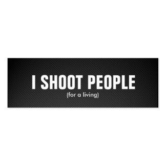 Tiro a la gente - fotógrafo profesional tarjeta personal
