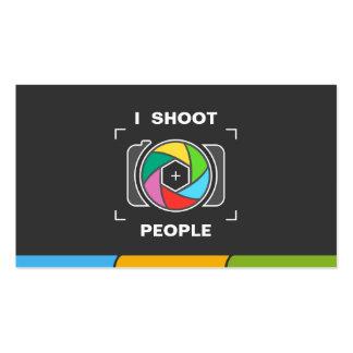 Tiro a la gente - obturador de cámara colorido tarjetas de visita