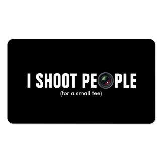 Tiro a la gente - papel metálico (la fotografía) tarjetas de visita