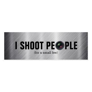 Tiro a la gente - tarjetas de visita de la fotogra