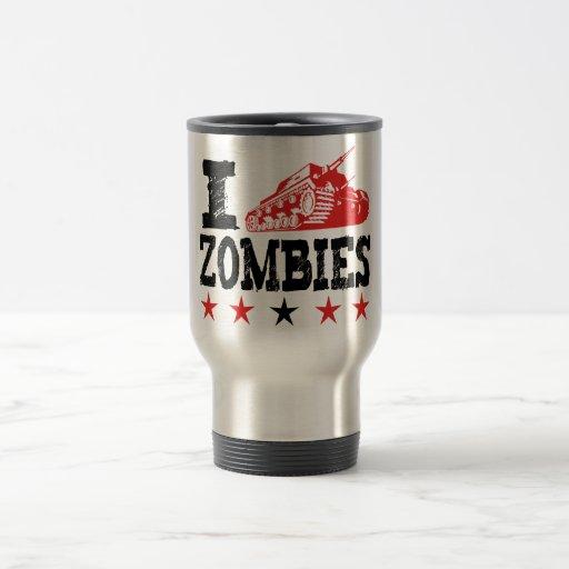 Tiro a los zombis que usan el tanque taza de café