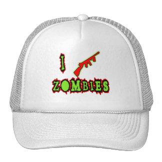¡Tiro a zombis! Camiseta divertida del zombi Gorro De Camionero
