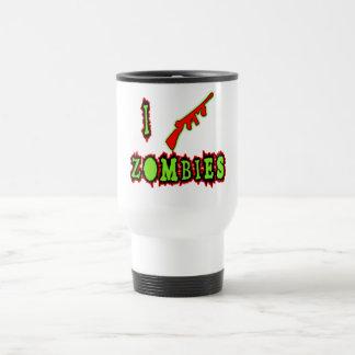 ¡Tiro a zombis! Camiseta divertida del zombi Tazas