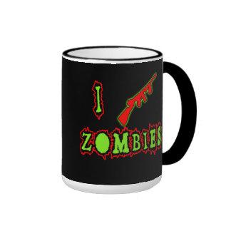 ¡Tiro a zombis! Camiseta divertida del zombi Taza