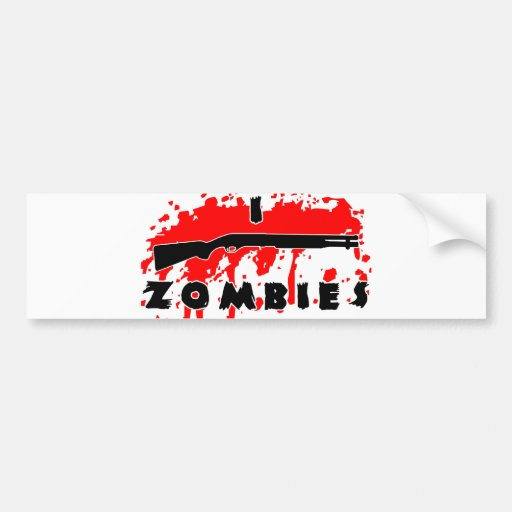 Tiro a zombis etiqueta de parachoque
