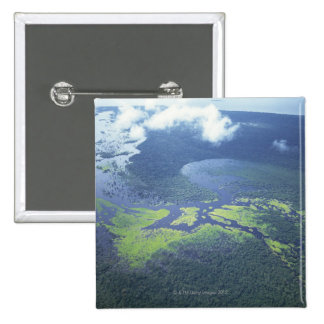 Tiro aéreo del bosque del Amazonas Pin Cuadrada 5 Cm