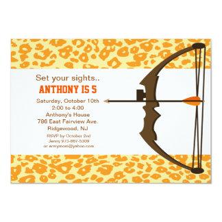Tiro al arco con la invitación colorida del invitación 11,4 x 15,8 cm