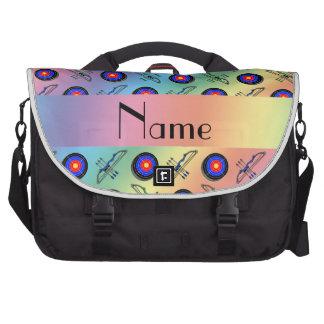 Tiro al arco conocido personalizado del arco iris bolsas de portatil
